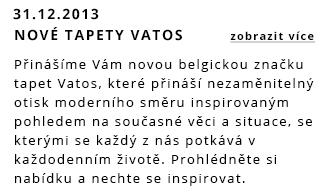 Přinášíme Vám novou belgikou značku tapet Vatos