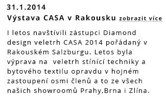Přinášíme Vám nové informace z výstavy bytového textilu CASA Rakousko 2014