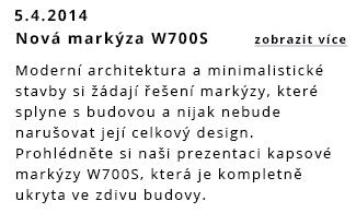 Nová markýza W700S