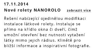 Nová látková roleta NANOROLO