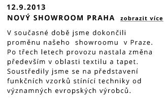 Otevřen nový showroom v Praze
