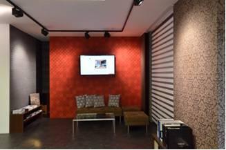 interiér pražského showroomu