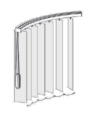 Instalace vertikálních žaluzií do oblouku