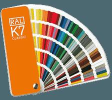 vzornik barev palety ral