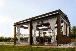 Dřevěné konstrukce pergoly