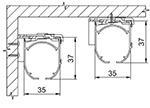 Univerzální konzoly pro montáž na stěnu a strop