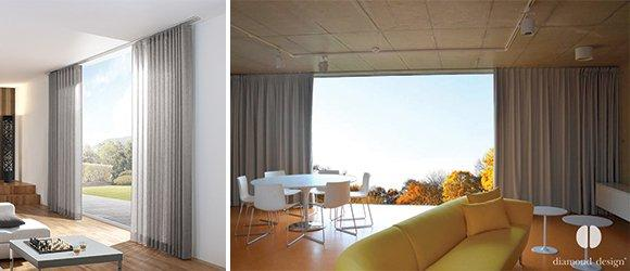 Závěsy skvěle doplňující moderní i minimalistický interiér