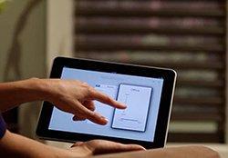 Ovládání plissé a duette inteligentně tabletem