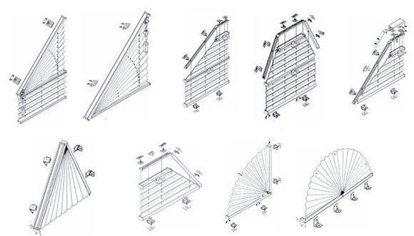 Příklady atypických tvarů plissé a duette