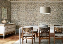 MORRIS 14 Morris-Bullerswood-dining-room-damask-neutral-style-library