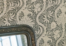 MORRIS 15 -Morris-Indian-bedroom-blue-damask-detail-wallpaper-style-library
